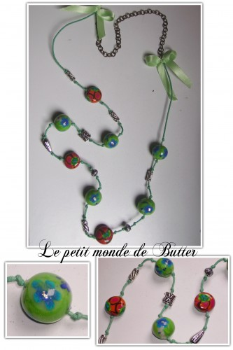 fimo, perles, sautoir, beads, polymer clay, necklace
