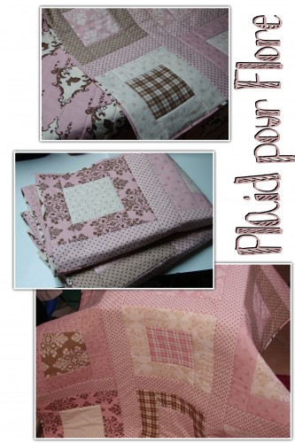 plaid, quilt, patchwork, anne sutton, lily and will, moda, rose, pink